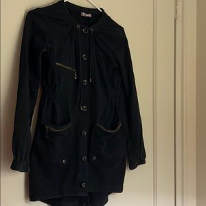 Kensie long light jacket with multiple pockets
